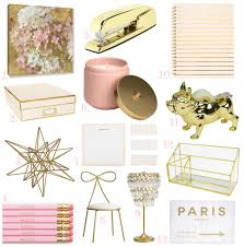 Small Picture Blush and Gold Office Accessories Lil bits of Chic by Paulina Mo