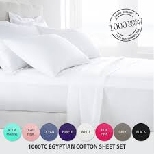 egyptian cotton bedding 1000 tc thread count egyptian cotton bed sheets