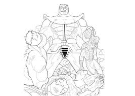 New Thanos Coloring Pages Linear Super Coloring Page