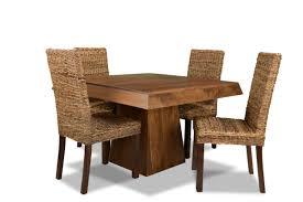 Dakota Pyramid Dining Table 4 Rattan Chairs