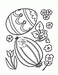 Two Easter Eggs Coloring Page For Kids Easter Coloring Pages
