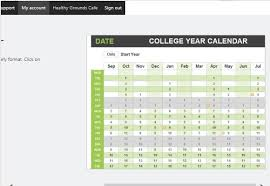 College Year Calendars For College Students Magdalene Project Org