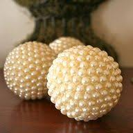 Decorative Pearl Balls Decorative balls with foam and pushpins Crafts Pinterest 2