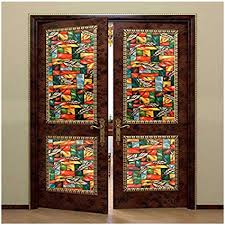 office door with window. Beautiful With Window Film Stained Glass Privacy Bloss Nonadhesive Static  Cling For Door Home Throughout Office With R
