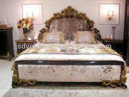 Solid Bedroom Furniture 0063 Hot Sell European Solid Wooden Carved Royal Luxury Classic