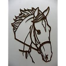 say it all on the wall horse head metal wall art country rustic home decor on metal horses wall art with amazon say it all on the wall horse head metal wall art country