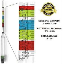Triple Scale Hydrometer For Home Brew Wine Beer Cider