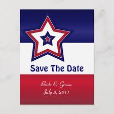 Red Save The Date Cards Red White Blue Stars Save The Date Cards