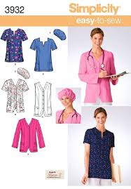 Scrub Patterns Enchanting Amazon Simplicity Sewing Pattern 48 MissPlus Size Scrubs AA