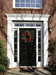 black front door with sidelightsTop 20 Black Front Door Design Ideas  Home Interior Help