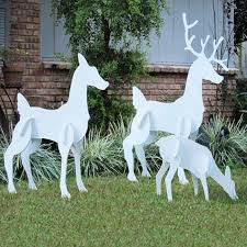 wooden reindeer decorations how to make with a outdoor