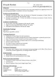 Normal Resume Format Free Download Example Good Resume Template