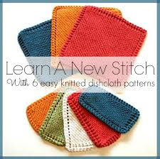 Knit Dishcloth Pattern Amazing Learn A New Stitch With 48 Easy Knitted Dishcloth Patterns Stitch