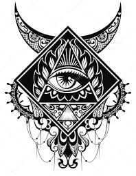 Tattoo Art Eye Stock Vector Ksyshakiss 91900926