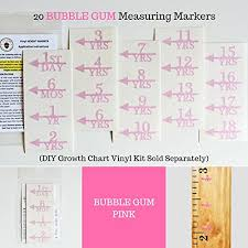Growth Chart Markers Little Acorns Add On Diy Vinyl Growth Chart Ruler Height Marker Arrows Only