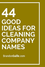 401 Good Ideas For Cleaning Company Names Cleaning Company