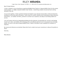 Sample Education Cover Letters 14 Sample Cover Letters Teaching Contract Templated