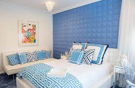 blue and white interiors living rooms