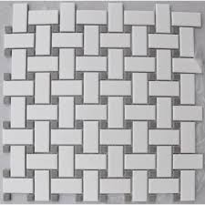white basketweave gray dot retro mosaics