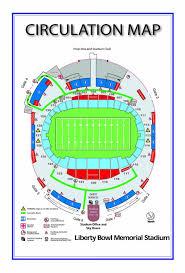Liberty Bowl Map Liberty Bowl Stadium Map Tennessee Usa