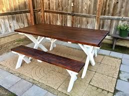 diy outdoor patio table inexpensive