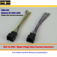 high quality radio wires buy cheap radio wires lots from high male iso radio wire cable wiring harness car stereo adapter connector for hummer h2
