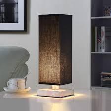 Tafellamp Martje Met Zwarte Stof En Led Lamp Lampen24nl