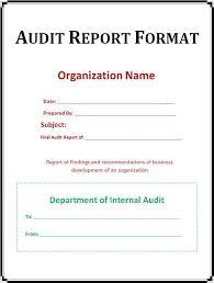 Template Audit Report Internal Audit Report Template Word Imagen891 Sampleresume