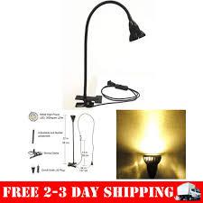 5w gooseneck led clamp desk lamp clip on bendable steel light table mount warm