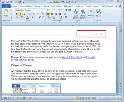Apa Word Doc Insert Page Numbers In Word 2010 Document