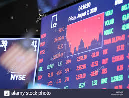 New York Usa 2nd Aug 2019 Trading Chart Is Seen On An