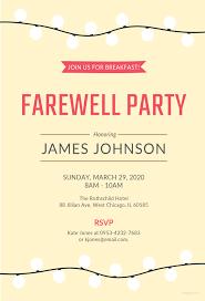 Farewell Invitation Template Free Farewell Breakfast Invitation Template In MS Word Publisher 8