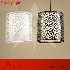 Square Led Pendant Light Us 42 0 Nordic Loft Creative Hollow Out Dia 25cm Iron Square Lattice Residential Dining Bar Stairs Lighting Industrial Led Pendant Light In Pendant