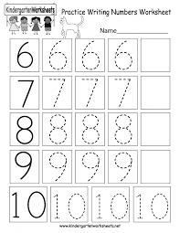 Kindergarten Number Tracingsheets Counting Printable Writing ...