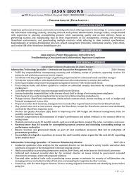 Program Analyst Resume Samples Best Of Information Technology Resume Examples