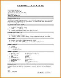 Declaration In Resume Sample Resume Template Example