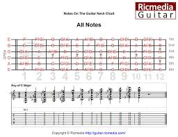 Guitar Note Scale Chart All Notes Guitar Neck Ricmedia Guitar