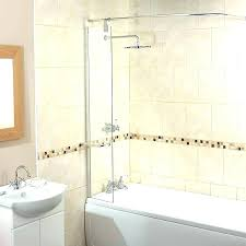 shower guard home depot bathtub corner splash screen with rail new ideas water