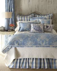 image of french country bedding blue