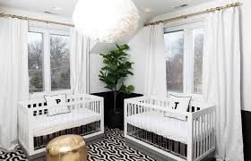 baby bedroom modern dua twin nurseries baby room ceiling pendant shades throw pillow initial letters wood