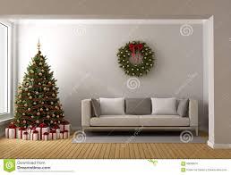 Living Room Christmas Living Room With Christmas Tree Stock Illustration Image 60089010