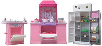 Dollhouse kitchen furniture Doll House Image Unavailable Amazoncom Amazoncom Gloria Dollhouse Furniture Deluxe Kitchen Play Set