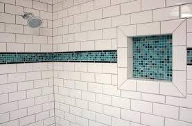 extraordinary bathroom tile accents blue glass