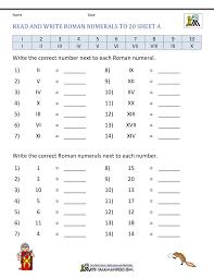 Roman 3 Roman Numerals Worksheet