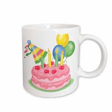 3drose Tnmgraphics Birthdays Cherry Birthday Cake With Balloons And