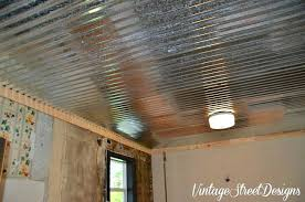 photo gallery of the corrugated metal ceiling