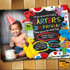 Birthday Invitation Pictures Interesting Elmo Invitation Elmo Birthday Invitation Sesame Street Etsy