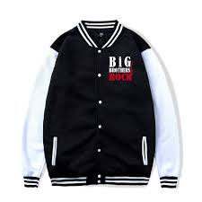 Amazon Com Big Brothers Rock Baseball Jacket Uniform Hooded