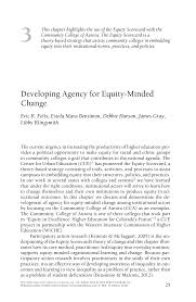 Developing Agency for Equityâ•'Minded Change