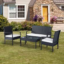 garden furniture sofas uk. outsunny rattan sofa set garden furniture outdoor patio wicker weave chair table sofas uk